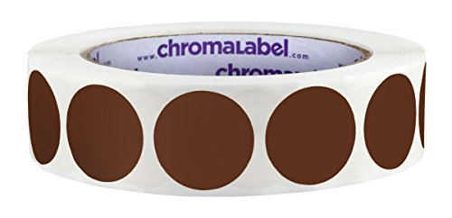 ChromaLabel 1 inch Color-Code Dot Labels | 1,000/Roll (Cocoa)