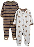 #3: Simple Joys by Carter's Boys' 2-Pack Fleece Footed Sleep and Play