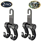 Gyges Car Seat Headrest Hooks Hangers - 2 Pack Durable Strong Backseat Headrest Hanger Storage Handbags, Shopping Bags, Purses, Backpacks, Grocery Bag, Universal Vehicle Car Seat Back Headrest