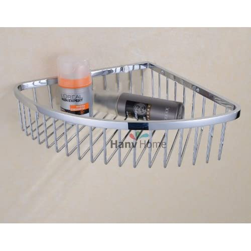 Haneabth stainless steel wall mount corner shower caddy - Bathroom corner caddy stainless steel ...