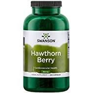 Swanson Premium Hawthorn Berries 250 Caps, 565 mg each