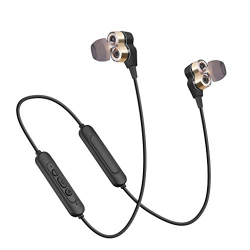 Price comparison product image BIYATE Bluetooth Headphones,  Best Wireless Sports Earphones with Mic IPX4 Waterproof HD Stereo Sweatproof in-Ear Earbuds Gym Running Workout 6 Hour Battery Noise Cancelling Headsets