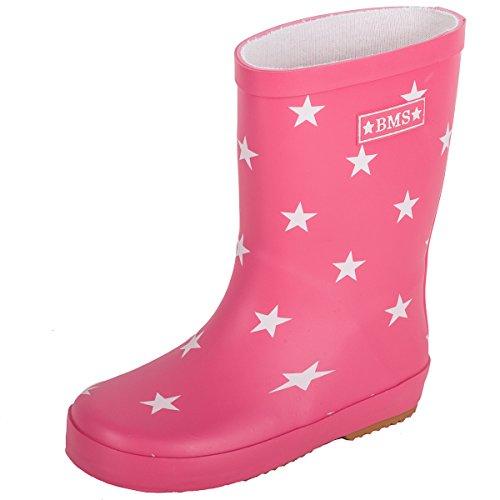 Pluie Enfant Naturel Bms Pink De sterne Caoutchouc Bottes 1RnREtx