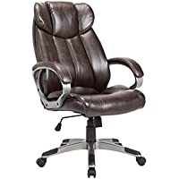 Christies Home Living Leather Comfortable Adjustable Chairs, Brown