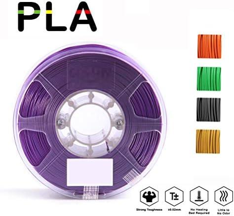 3DプリンターフィラメントにリフィルほとんどのFDMプリンタとして使用する3Dプリンタ用のLPAフィラメント1.75ミリメートル、緑、寸法精度+/- 0.03ミリメートル、千グラムスプール(2.2lbs)、 (Color : Orange)