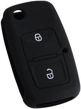 Auto Schlüssel Hülle Silikon Shell Schutz Schlüsselhülle Für Mk4 Bora Golf 4 5 6 Passat Polo Bora Touran Key Case Skin Jacket Schwarz Auto