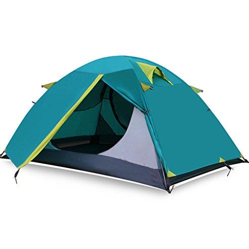 リマーク添加アジアテント、屋外二重層アルミ棒超軽量防水キャンプテント