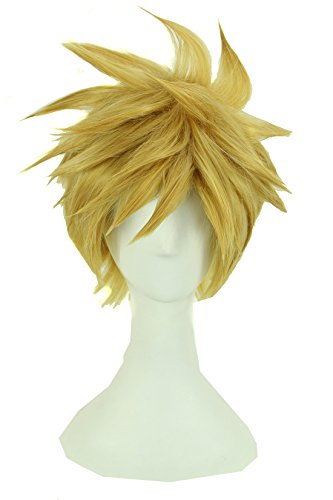 Icoser Anime Cosplay Wig Lolita Short Party Hair in Beauty 32cm (Blonde Lolita Adult Wig)