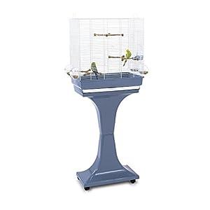 Imac 5-03763 – Jaula para pájaros con pie camilla, 50 x 30 x 57/129 cm, color azul y blanco