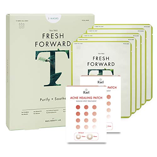 Rael Tea Tree Sheet Mask 1 Pack  & Acne Healing Patch 2 Pack