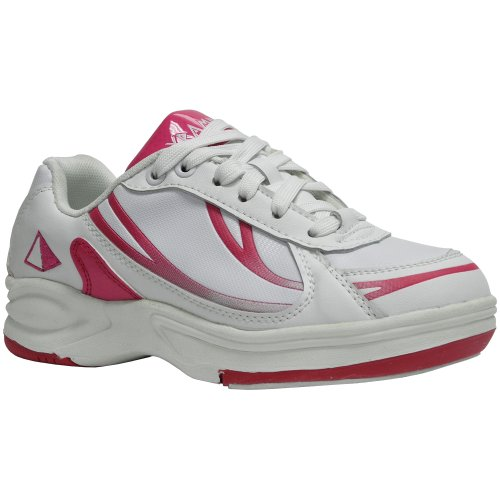 Pyramid Path Sport Womens Bowling Shoes (White/Hot Pink, ...