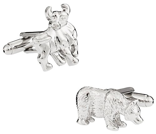 Cuff-Daddy Bull & Bear Cufflinks with Presentation Box (Bull Bear Cufflinks)