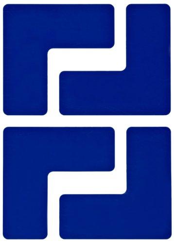 Brady ToughStripe Nonabrasive  L Shape Floor Marking Tape, 5 Length, 2 Width, Blue (Pack of 20 per Roll)