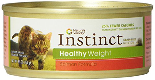 Nature's Variety Instinct Healthy Weight Grain-Free Salmon Formula Canned Cat Food, 5.5 oz. Cans (Case of 12)
