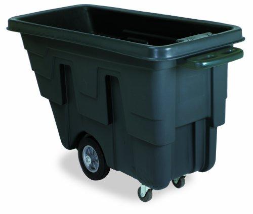 Continental 5839BK, Black Utility Duty 5/8 Cubic Yard Tilt Truck, 300 lb. Capacity, 38