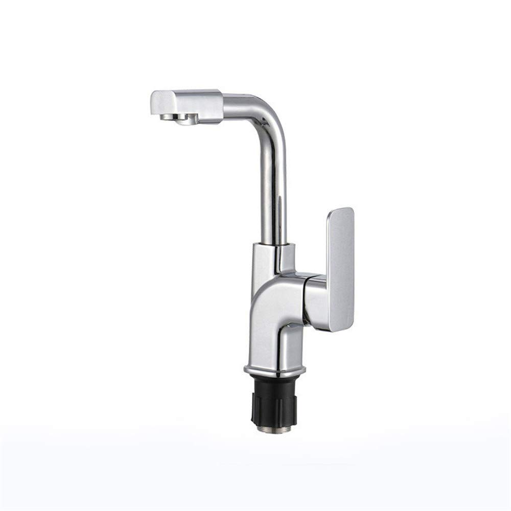 KaO0YaN-Tap Zinc Alloy hot and Cold Water Faucet Lead-Free Brushed Kitchen Sink Basin Faucet