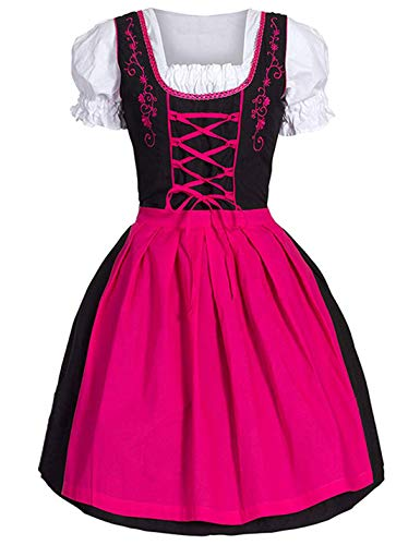 Flygo Women's Anime Cosplay French Maid Costume Apron Carnival Hallowween (X-Small, Pink) -