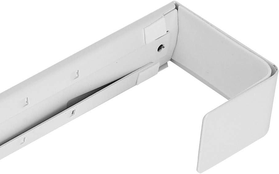 gancho de corona de metal navide/ño 20 lb Colgador de corona ajustable para puerta delantera Blanco 15-24 pulgadas