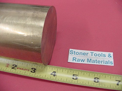 3'' C360 BRASS ROUND ROD 3.5'' long Solid 3.00'' OD H02 Lathe Bar Stock Half Hard by Stoner Metals