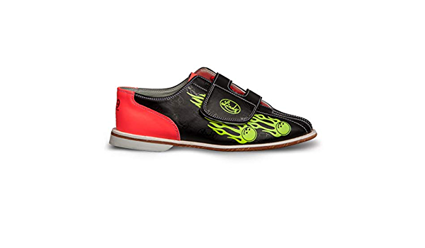 Velcro 9 Linds Mens Glow Balls of Fire Bowling Shoes
