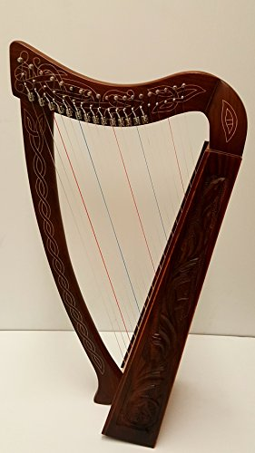 31 Inch Tall Celtic Irish Knee Harp 19 Strings Solid Wood Free Bag Strings Key by Sturgis