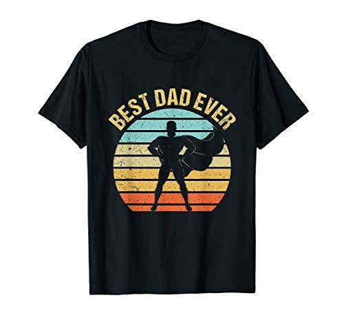 Mens Vintage Best Dad Ever Shirt Superhero Father's Day T-Shirt]()