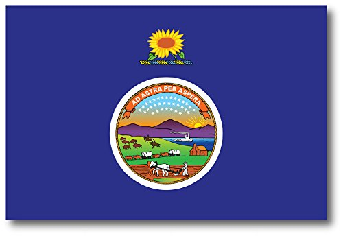 Kansas Car Magnet US State Flag Refrigerator Locker SUV Heavy Duty Waterproof…