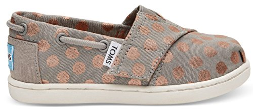 Toms Girls' 10010053 Rose Gold Dot Bimini-K, Gray, 8 M US Toddler