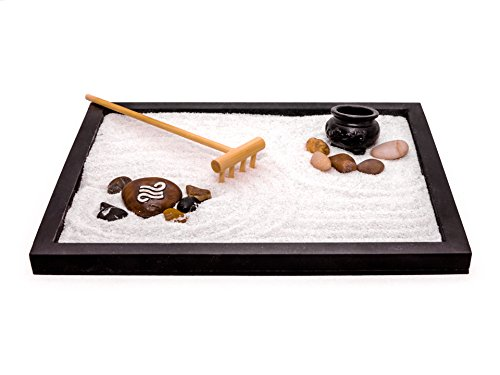 Zen Factory - Deluxe Zen Garden Desktop Meditation Kit -