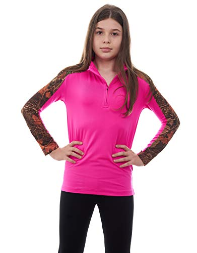 (TrailCrest Todler Camo Performance 1/4 Zip Pullover (2T, Fusia))