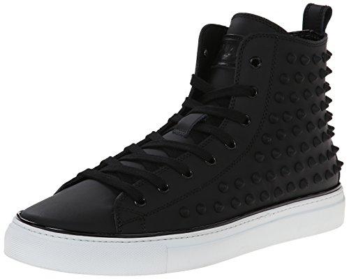 DSQUARED2 Men's Hi Top Vitello Gommato Fashion Sneaker, Nero, 42 EU/9 M US