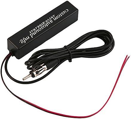 OxGrow (TM) coche antena Radio/TV Recepción de señal amplificador ...