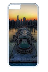 Chicago skyline PC Case Cover for iphone 6plus 5.5 and iphone 6plus 5.5 inch White
