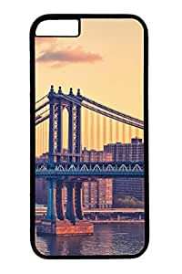 Brian114 iPhone 6 Case - Bay Bridge New York Back Case Cover for iPhone 6 4.7 Inch Hard Black Cases