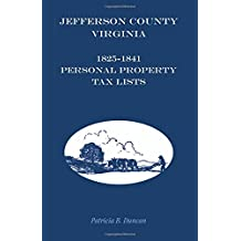 Jefferson County, Virginia, 1825-1841 Personal Property Tax Lists