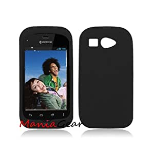 [ManiaGear] Black Silicone Skin For Kyocera Hydro C5170 (Boost Mobile)