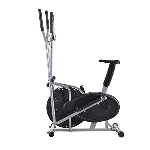 SKEMiDEX---Elliptical Machine Cross Trainer 2 in 1 Exercise Bike Cardio Fitness Equipment. Easy to operate and convenient to use, you can use it in office, home or other indoor places