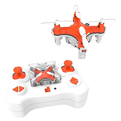 SKYKING F001 Mini Nano RC Drone for Kids,Portable Beginners Pocket Quadcopter with 2.4Ghz 6 Axis Gyroscope/3D Flips/Headless Mode/Speed Adjustment New Year Gift(Orange)