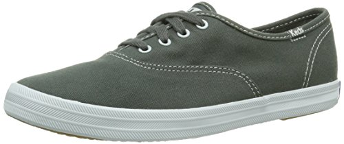 Keds Champion Canvas Sneaker (Keds WF34698 Women's Champion CVO Plimsolls Fashion Sneakers, Steel Grey, 8 B(M) US)
