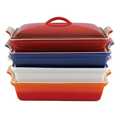 Le Creuset Heritage Stoneware 12-by-9-Inch Covered Rectangular Dish