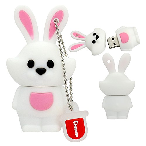 32 GB Cute Animal USB Flash Drive Chino Zodiac Pen Drive Regalos para niños de la Escuela y Estudiantes Pendrive Conejo