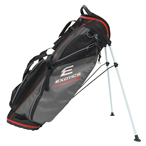 Tour Edge Exotics Xtreme Lite 3.5 Stand Bag (Men's, Exotics Xtreme Lite 3.5 Stand Bag Black/CHARCOAL/Red) () - Edge Stand Bag