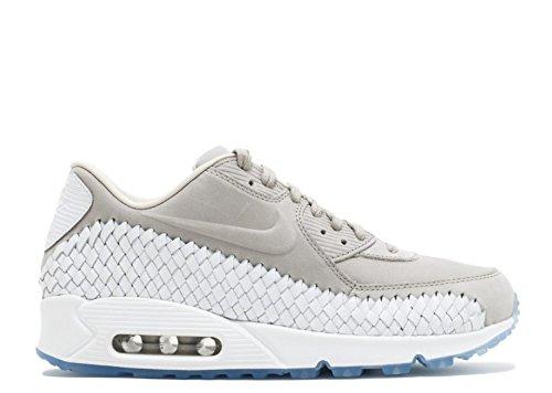 Heren Nike Air Max 90 Geweven Vrijetijdsschoen Ijzer / Wit