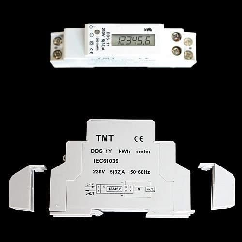 COMPTEUR COURANT ELECTRIQUE DENERGIE WATTMETRE KWH//KW//LCD DIGITAL 230V ZW3