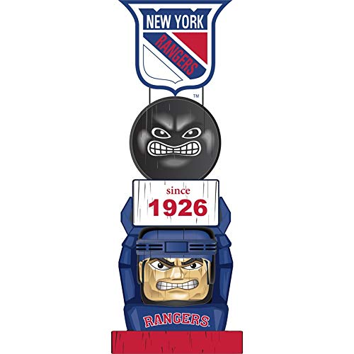 Team Sports America New York Rangers Vintage NHL Tiki Totem Statue ()