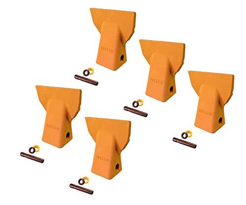 (5 - Cat J200 Style Backhoe Bucket Flare Teeth w Pins & Retainers- 109-9200)