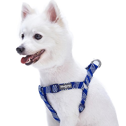 Image of Blueberry Pet 4 Colors Step-in Artisan Crochet Inspired Endless Squares Dog Harness, Chest Girth 26