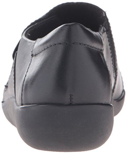 CLARKS Damen Medora Sandy Slip-On Loafer Schwarzes Leder