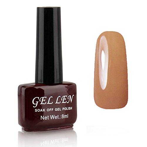 Gellen Nail Polish Gel Colors Gel Nail Lacquer 1pc 8ml Brown