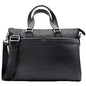 Braun Büffel PAXOS Businesstasche M schwarz aus echtem Leder